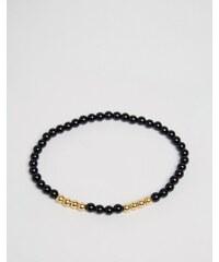 Mister Vellum - Armband mit Onyx-Perlen - Schwarz
