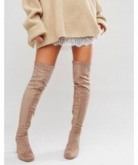 Miss KG - Vegas - Overknee-Stiefel mit Absatz - Beige