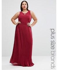 Lovedrobe Plus - Robe longue à jupe plissée - Violet