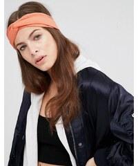 ASOS - Turban pour cheveux torsadé en velours côtelé doux - Rose