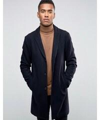 Jack & Jones - Hochwertiger Mantel aus Wollmischung - Marineblau