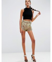 ASOS - NIGHT - Shorts mit schimmernden Pailletten - Rosa