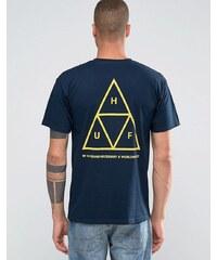 HUF - T-shirt triple triangle avec imprimé dos - Bleu marine