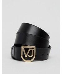 Versace Jeans - Gürtel mit Metallschnalle - Schwarz