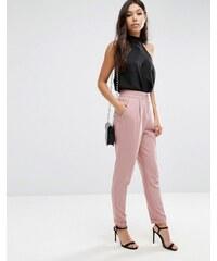 ASOS Tailored - Hose mit hohem Bund und Umschlag - Rosa