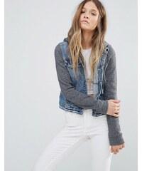 Hollister - Veste en jean à capuche - Bleu