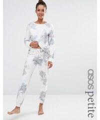 ASOS PETITE LOUNGE - Pantalon de jogging à fleurs style aquarelle - Multi