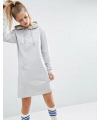 ASOS - Mini-Sweatkleid mit Kapuze - Grau