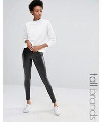 Vero Moda Tall - Legging aspect cuir - Noir