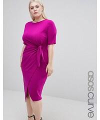 ASOS CURVE - Kleid mit Knoten vorne - Rosa