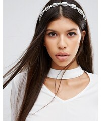Love Rocks - Haarband mit eckigen Schmucksteinen - Silber