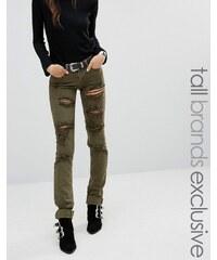 Glamorous Tall - Jean skinny aspect très usé - Vert