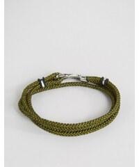 Seven London - Bracelet en cordelette - Kaki - Vert
