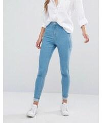 Miss Selfridge - Jean skinny taille haute - Bleu