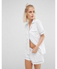 DKNY - Pyjama court emblématique - Blanc