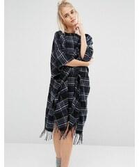 DKNY - Chemise de nuit style poncho - Noir