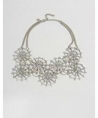 Regal Rose - Dolores - Halloween-Kragenhalskette mit Netzdesign - Silber