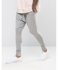 Sixth June - Pantalon de jogging skinny à entrejambe bas - Gris
