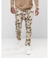 Sixth June - Pantalon de jogging skinny style cargo à imprimé camouflage - Marron