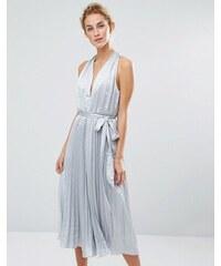 True Decadence - Combinaison plissée coupe jupe-culotte - Gris