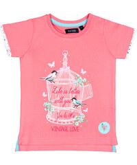 Blue Seven Dětské růžové tričko s nápisem Vintage Love