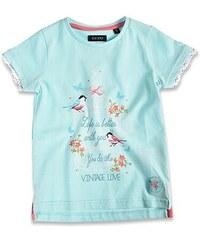 Blue Seven Dětské tyrkysové tričko s nápisem Vintage Love