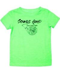 Vinrose Dětské zelené tričko s nápisem Sounds Good
