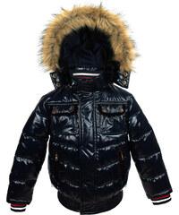 Vinrose Dětská zimní bunda s kapucí a výšivkami