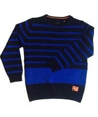 Blue Seven Dětský tmavěmodrý svetr s proužky Vintage Sea