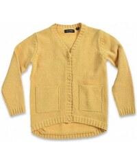 Blue Seven Dětský žlutý propínací svetr Urban Yellow