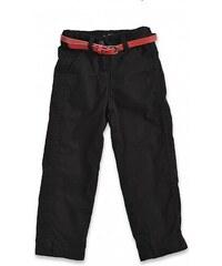 Blue Seven Dětské černé zateplené kalhoty s páskem Lovely New York