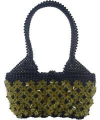 Černá kabelka se žlutými květy Magda