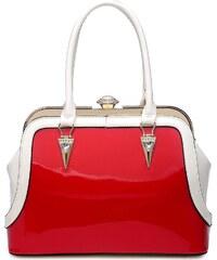 Červeno bílá kabelka Kendal