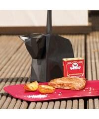 PABLO Stojan na nože + 4 steakové zubaté nože KOZIOL