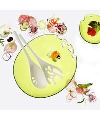 SHADOW set salátová mísa a salátový příbor 3,5 l KOZIOL