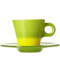 Barevný šálek a podšálek, hrníček na espresso mění barvu Ooh! Magico LEONARDO