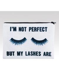 Wayfarer kosmetická taška Lashes bílá.
