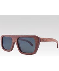 Plantwear dřevěné sluneční polarizační brýle Sport černé