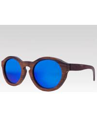 Plantwear dřevěné sluneční polarizační brýle Retro modré