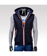 Ombre Clothing pánská zimní vesta Rubick tmavě modrá M