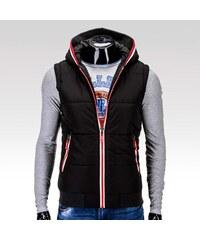Ombre Clothing pánská zimní vesta Rubick černá M