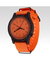 Plantwear pánské hodinky Ebony oranžové