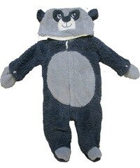 Carodel Chlapecký chlupatý overal s medvídkem - tmavě modrý
