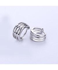 Náušnice kroužky stříbrné