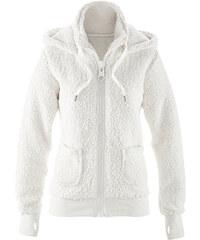 bpc bonprix collection Veste en polaire peluche blanc manches longues femme - bonprix
