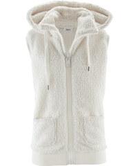 bpc bonprix collection Veste polaire peluche sans manches blanc femme - bonprix