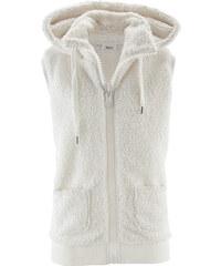 bpc bonprix collection Basic Fleece-Weste ohne Ärmel in weiß für Damen von bonprix