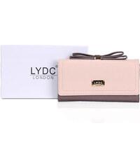 LYDC LONDON Světle růžová peněženka LYDC s mašlí