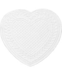 Côté Table Látkové prostírání srdce - bílé 30 cm