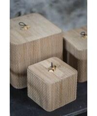 IB LAURSEN Bambusový box Natural - set 3 ks